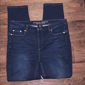 Love & Legend size 18 blue skinny jeans